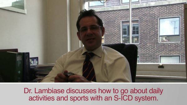 Watch video of Dr. Lambaise on working, traveling etc. with an S-ICD